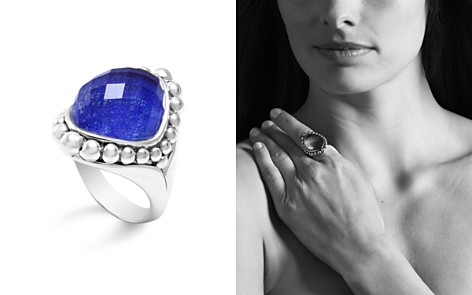 LAGOS Sterling Silver Maya Doublet Dome Ring with Lapis - Bloomingdale's_2