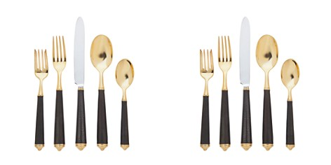 Ricci Argentieri Leopardo Black and Gold 5-Piece Place Setting - Bloomingdale's Registry_2