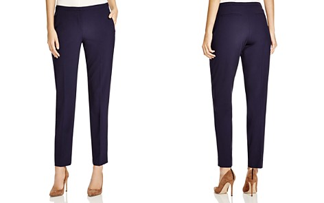 Elie Tahari Jillian Stretch Wool Slim Pants - Bloomingdale's_2