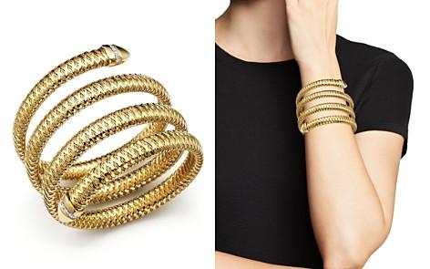 Roberto Coin Primavera 18K Yellow and White Gold Flex Diamond Bracelet - Bloomingdale's_2