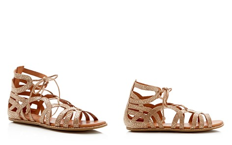 Gentle Souls Break My Heart Metallic Snake Embossed Lace Up Sandals - Bloomingdale's_2