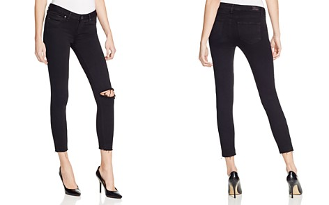 Paige Denim Verdugo Crop Jeans in Jet Black Destroyed - Bloomingdale's_2