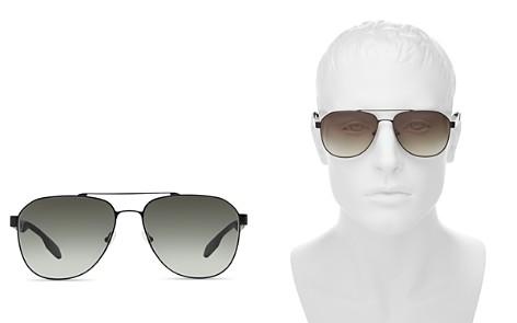 Prada Men's Punched Aviator Sunglasses, 60mm - Bloomingdale's_2