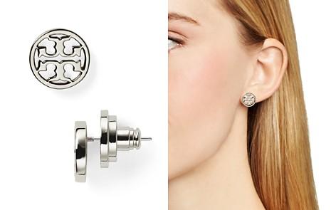 Tory Burch Logo Stud Earrings Bloomingdale S 2