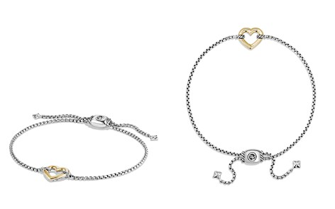 David Yurman Cable Collectibles Heart Station Bracelet with 18K Gold - Bloomingdale's_2