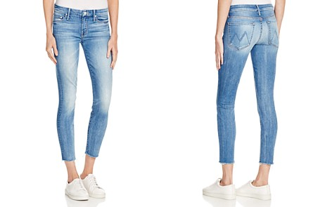 MOTHER The Looker Ankle Fray Jeans in Birds of Paradise - Bloomingdale's_2