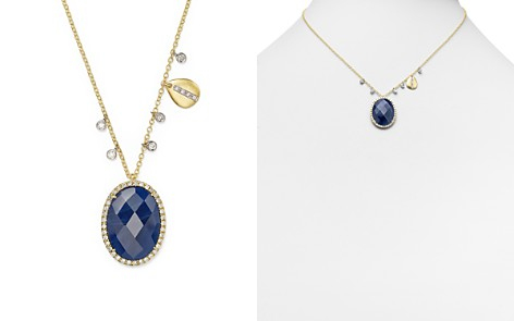 """Meira T 14K Yellow Gold and 14K White Gold Blue Sapphire Pendant Necklace with Diamonds, 16"""" - Bloomingdale's_2"""