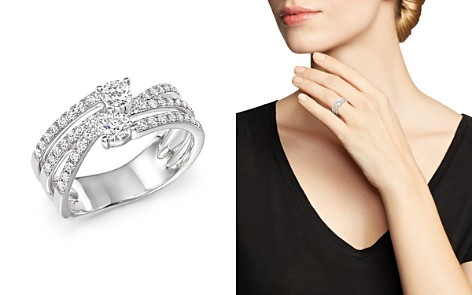 Diamond Two Stone Multi Ring in 14K White Gold, .79 ct. t.w. - 100% Exclusive - Bloomingdale's_2