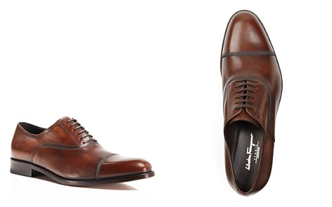 Salvatore Ferragamo Men's Guru Brushed Leather Cap Toe Oxfords - Bloomingdale's_2