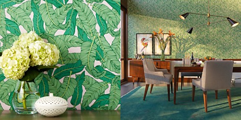 Chasing Paper Banana Leaf Removable Wallpaper - Bloomingdale's_2