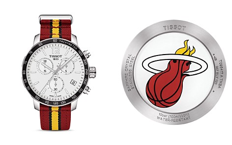 Tissot Miami Heat Quickster Stainless Steel Chronograph, 42mm - Bloomingdale's_2