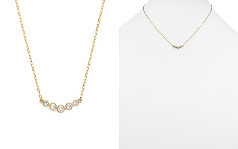 Diamond 5 Stone Graduated Pendant Necklace in 14K Yellow Gold, .25 ct. t.w. - Bloomingdale's_2