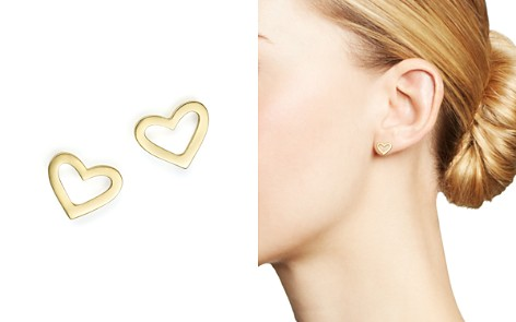 Roberto Coin 18K Yellow Gold Heart Earrings - Bloomingdale's_2