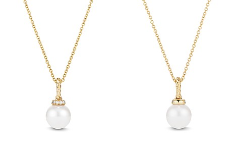 David Yurman Solari Pearl Pendant Necklace with Diamonds in 18K Gold - Bloomingdale's_2