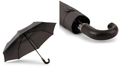ShedRain WindPro® Vented Auto Open/Auto Close Compact Umbrella with Curved Wood Handle - Bloomingdale's_2