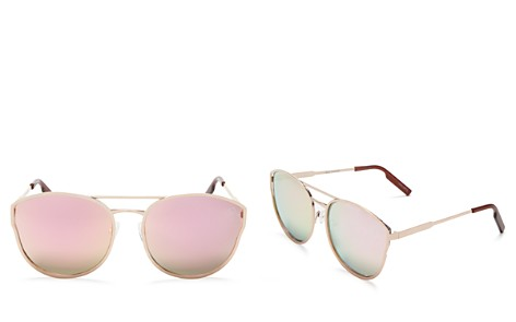 Quay Cherry Bomb Mirrored Cat Eye Sunglasses, 59mm - Bloomingdale's_2