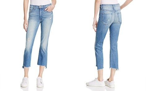 MOTHER Insider Step Crop Fray Jeans in Shake Well - Bloomingdale's_2