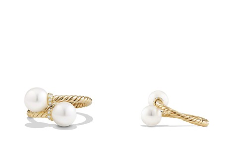 David Yurman Solari Bypass Ring with Pearls and Diamonds in 18K Gold - Bloomingdale's_2