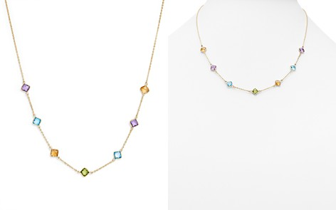 """Multi Gemstone Station Necklace in 14K Yellow Gold, 18"""" - 100% Exclusive - Bloomingdale's_2"""