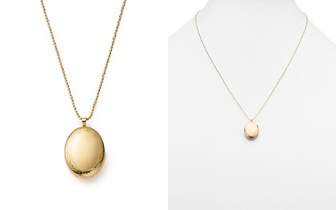 """14K Yellow Gold Oval Swirl Locket Necklace, 22"""" - 100% Exclusive - Bloomingdale's_2"""