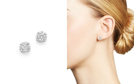 Roberto Coin 18K White Gold Stud Earrings with Diamonds, .64-3.39 ct. t.w. - Bloomingdale's_2
