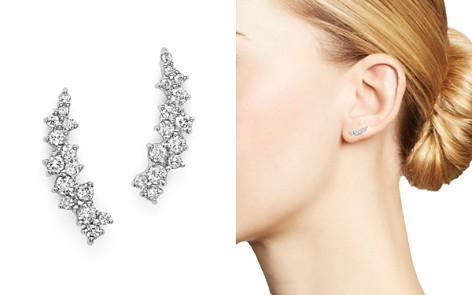 Small Diamond Scatter Ear Climbers in 14K White Gold, .30 ct. t.w. - 100% Exclusive - Bloomingdale's_2