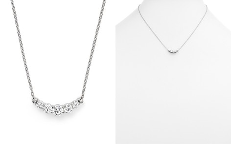 Diamond Five Stone Graduated Pendant Necklace in 14K White Gold, .50 ct. t.w. - 100% Exclusive - Bloomingdale's_2