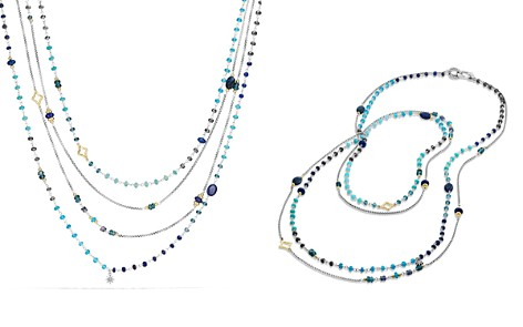 David Yurman Bead Necklace with Lapis Lazuli, Hampton Blue Topaz, Hematine and 18K Gold - Bloomingdale's_2