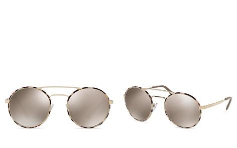 Prada Women's Catwalk Mirrored Brow Bar Round Sunglasses, 54mm - Bloomingdale's_2