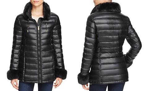 Via Spiga Faux Fur Trim Puffer Jacket - Bloomingdale's_2
