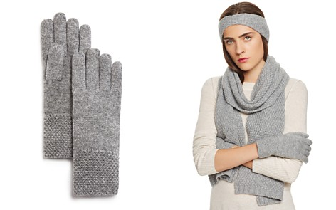 C by Bloomingdale's Waffle Knit Cashmere Gloves - 100% Exclusive_2