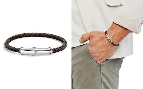 John Hardy Men's Sterling Silver Bamboo Station Bracelet in Brown Leather - Bloomingdale's_2