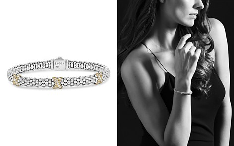 LAGOS 18K Gold and Sterling Silver X Collection Diamond Rope Bracelet, 6mm - Bloomingdale's_2