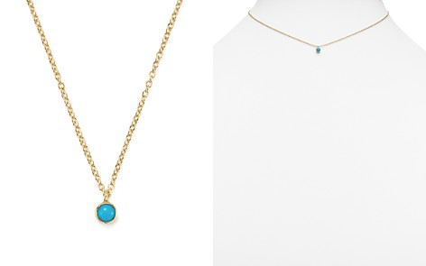"""Zoë Chicco 14K Yellow Gold Single Bezel Turquoise Necklace, 14"""" - Bloomingdale's_2"""