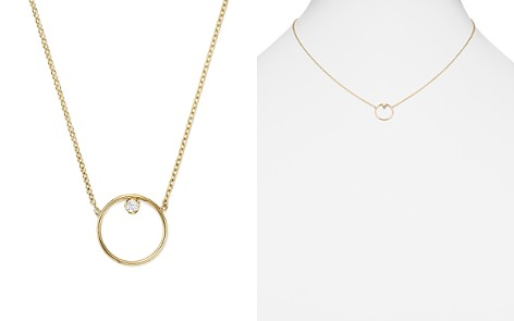 """Zoë Chicco 14K Yellow Gold Paris Small Circle Diamond Necklace, 15"""" - Bloomingdale's_2"""