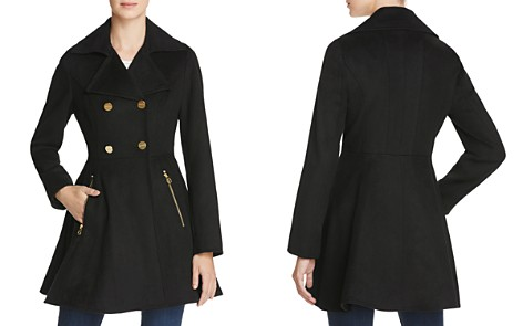 Laundry by Shelli Segal Fit-and-Flare Double-Breasted Coat - Bloomingdale's_2