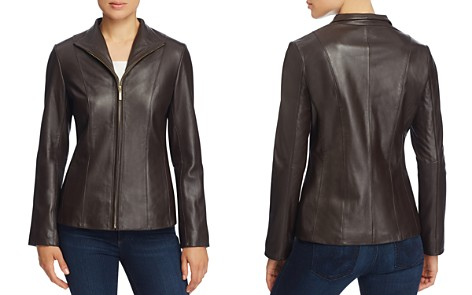 Cole Haan Wing Collar Leather Jacket - Bloomingdale's_2