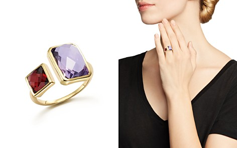 Amethyst and Garnet Square Side by Side Ring in 14K Yellow Gold - 100% Exclusive - Bloomingdale's_2
