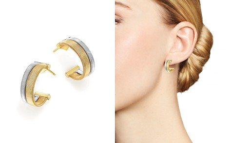 Marco Bicego 18K Yellow and White Gold Masai Two Row Hoop Earrings - Bloomingdale's_2