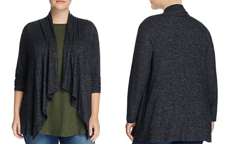 B Collection by Bobeau Curvy Ami Drape Front Cardigan - Bloomingdale's_2