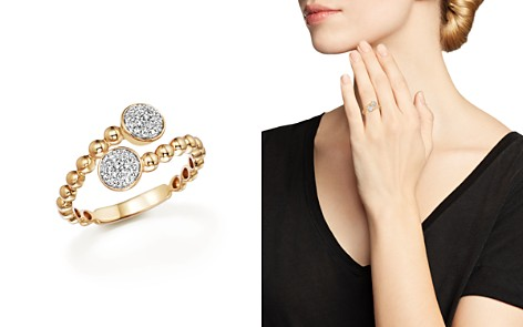 Diamond Pavé Bypass Ring in 14K Yellow Gold, .16 ct. t.w. - Bloomingdale's_2