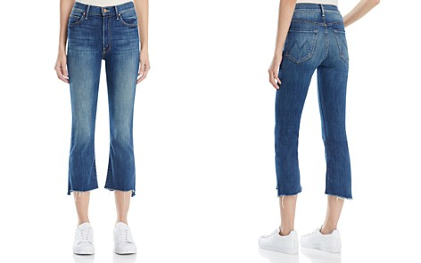 MOTHER Insider Crop Step Fray Jeans in Not Rough Enough - Bloomingdale's_2