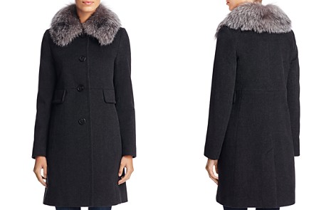 Maximilian Furs x Trilogy Fox Fur Collar Wool Coat - Bloomingdale's_2