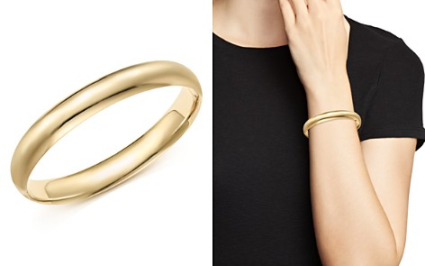 14K Yellow Gold Polished Bangle - 100% Exclusive - Bloomingdale's_2