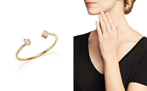 Zoë Chicco 14K Yellow Gold Open Ring with Prong and Bezel Set Diamonds - Bloomingdale's_2