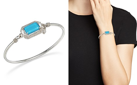 Judith Ripka Sterling Silver Avery Doublet Bangle with Rock Crystal - Bloomingdale's_2
