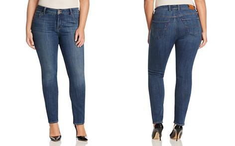 Lucky Brand Plus Emma Faded Straight Leg Jeans in Mystic Road - Bloomingdale's_2
