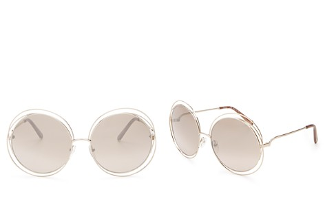 Chloé Carlina Round Oversized Sunglasses, 62mm - Bloomingdale's_2