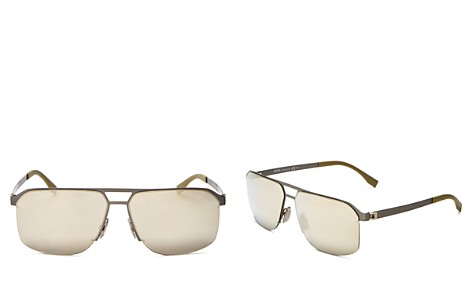 Hugo Boss Mirrored Square Top Bar Sunglasses, 52mm - Bloomingdale's_2