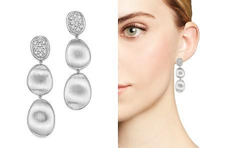 Marco Bicego 18K White Gold Lunaria Diamond Triple Drop Earrings - Bloomingdale's_2